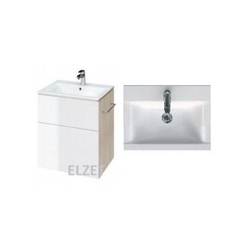 CERSANIT szafka Smart jasny jesion/biała + umywalka Ontario New 60 S568-018+K669-002