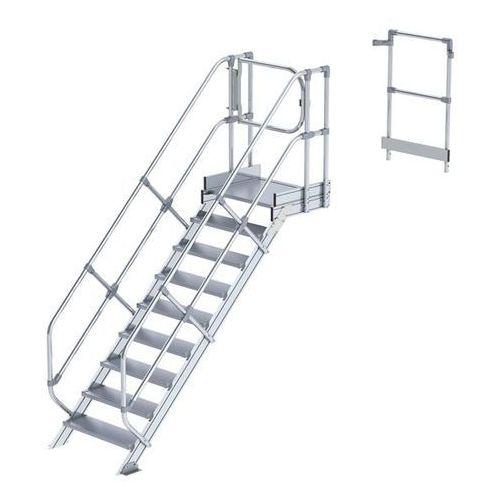 Przemysłowy pomost roboczy, moduł do schodów, 8 stopni. Najwyższa elastyczność d