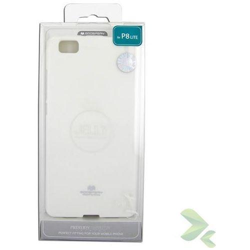 Mercury Etui huawei p8 lite (biały)  z elastycznego plastiku tpu