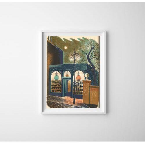 Plakat do pokoju Plakat do pokoju Eric Ravilious Apteka na ulicy