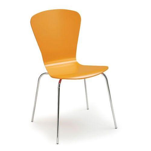 Krzesło do stołówki milla, sztaplowane, pomarańczowy marki Aj produkty