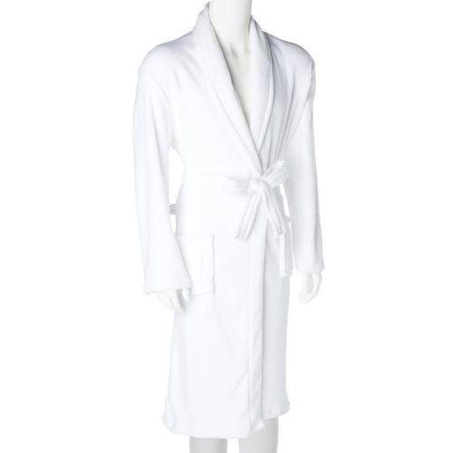 Szlafrok męski z mikrofibry, kolor biały, 120 cm (3560239391555)