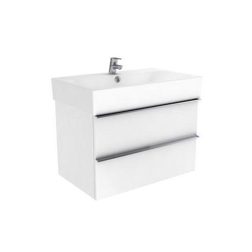 New trendy kubiko szafka wisząca biała połysk 75 cm ml-9075