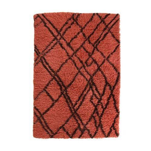 Hk living wełnianiy dywan berberyjski funky czerwony (120x180) ttk3037 (8718921029087)