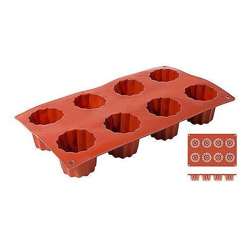Mata silikonowa do Bordelais, 8 foremek, 300x175x50 mm | CONTACTO, 6639/058