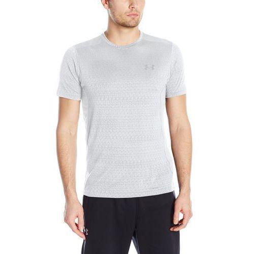 , koszulka męska ua raid, żakard, t-shirt ss, biały, m marki Under armour