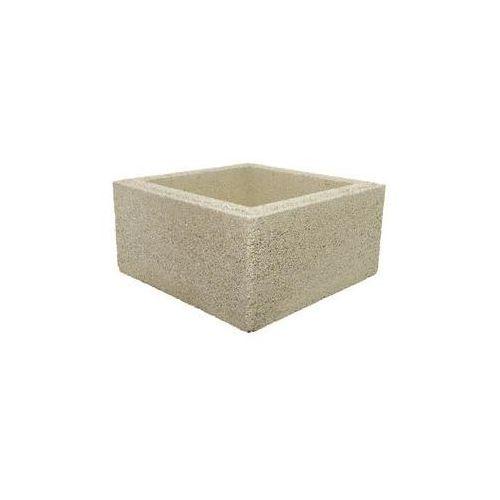 Bloczek słupkowy 40.3 x 40.3 x 20 cm betonowy beskid marki Joniec
