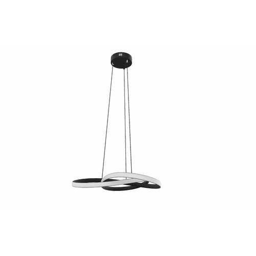 Krislamp eder kr 410-1bk lampa wisząca zwis 50w led czarna/biała (5907582569411)