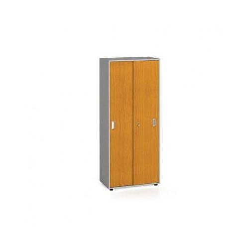 Szafa biurowa z przesuwnymi drzwiami, 1781x800x420 mm, czereśnia marki B2b partner