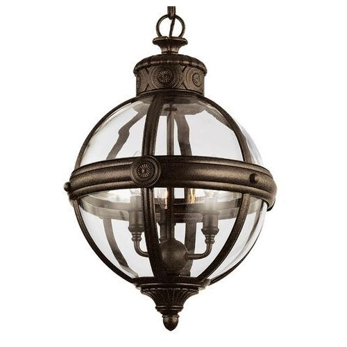 Elstead Lampa wisząca adams Ø 37 cm brąz