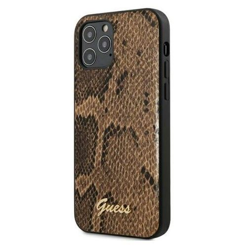 Guess Python Collection etui na iPhone 12 / iPhone 12 Pro (brązowy)