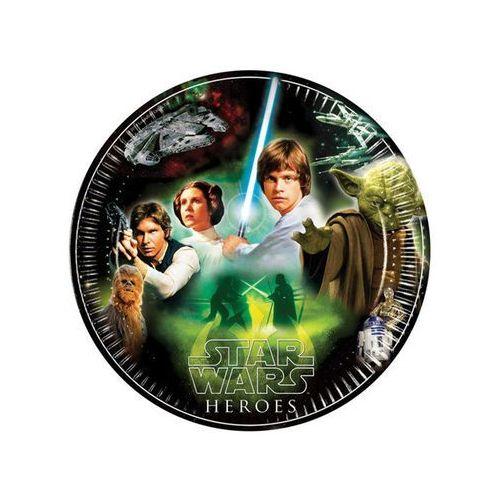 Talerzyki papierowe Star Wars & Heroes 23 cm, 8 szt. (5201184842836)