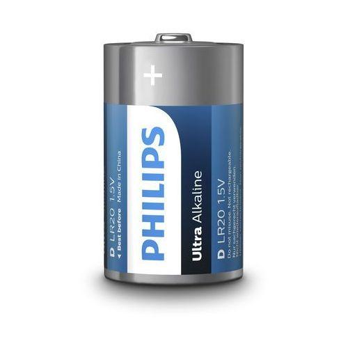 Baterie alkaliczne ultra alkaline lr20 d (blister) 2 sztuki marki Philips