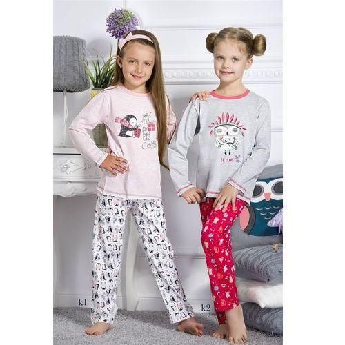 Taro piżama dziewczęca 1167 oda długa 01 różowy, kolor różowy