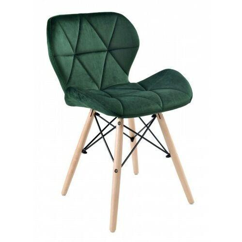 Krzesło axel velvet aksamit butelkowa zieleń marki Krzeslaihokery