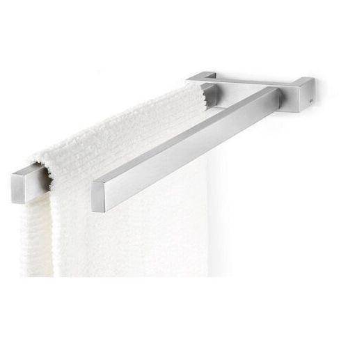 - reling łazienkowy podwójny 45 cm linea - stal nierdzewna matowa marki Zack