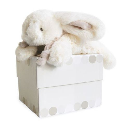 Doudou et compagnie Pluszowy królik w kolorze beżowym mały