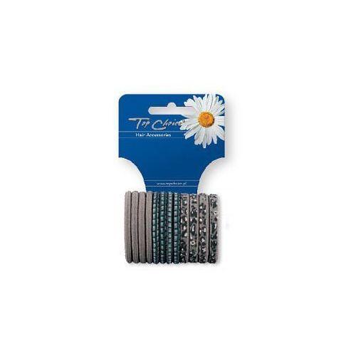 Top Choice Akcesoria do włosów Gumki do włosów zgrzewane szare 12szt 21411, 6521411