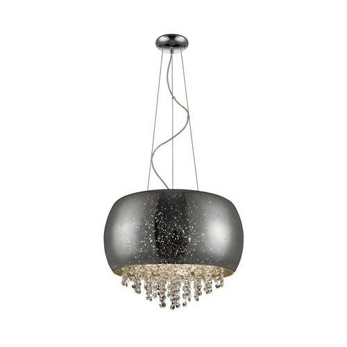 ZUMALINE VISTA LAMPA WISZĄCA LAMP 5*G9 MAX 42W SILVER GLASS SHADE WITH DOTSMETAL CHROME CANOPY P0076-05K (SILVER), P0076-05K (SILVER)