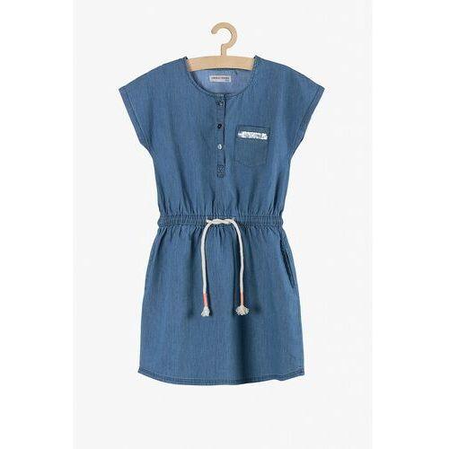 Niebieska sukienka dla dziewczynki 4k3811 marki Lincoln & sharks by 5.10.15.