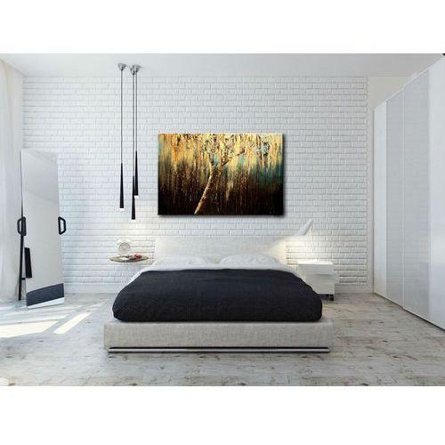 Obraz ze złotym drzewem na ścianę do salonu