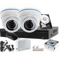Ivelset Zestaw do monitoringu: rejestrator lv-xvr44n + 2x kamera lv-ip10ir25df + 1tb