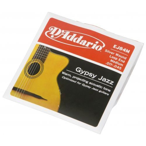 D′Addario EJ-84M struny do gitary akustycznej Gypsy Jazz 11-45 Loop End