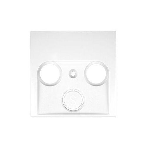 Berker/b.kwadrat element centralny gniazda antenowego 2-,3- wyjściowego biały 5312038989  marki Hager polo