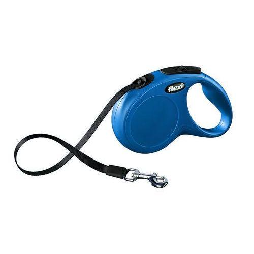 Flexi  smycz automatyczna new classic m-l taśma - 5m - do 50kg kolor: niebieski