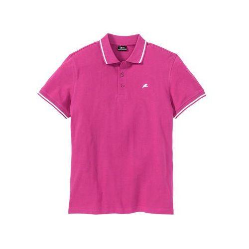 Shirt polo bonprix różowy