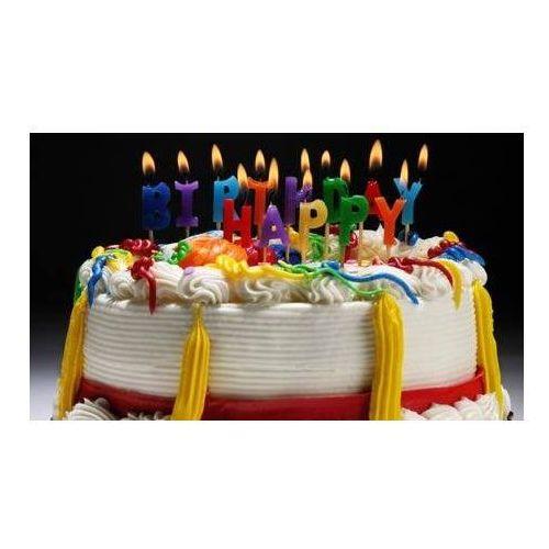 Ot Zestaw świeczek na pikerach happy birthday - 1 kpl.
