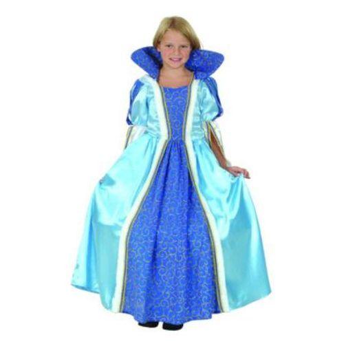 """_xx_Strój dla dzieci """"Niebiesko-złota księżniczka """" (sukienka z kołnierzem), rozm.120/130 cm (5901238671930)"""