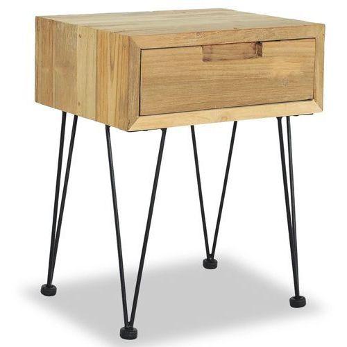 szafka nocna, 40 x 30 x 50 cm, lite drewno tekowe marki Vidaxl