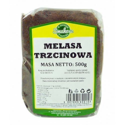 Melasa trzcinowa 500g Smakosz (5907695620153). Najniższe ceny, najlepsze promocje w sklepach, opinie.