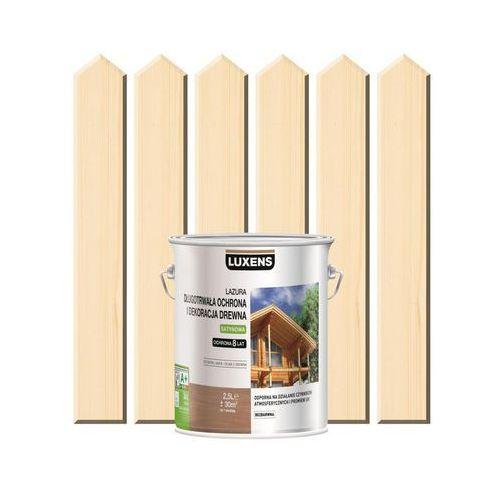 Luxens Lazura do drewna długotrwała ochrona i dekoracja drewna 2,5 lbezbarwny