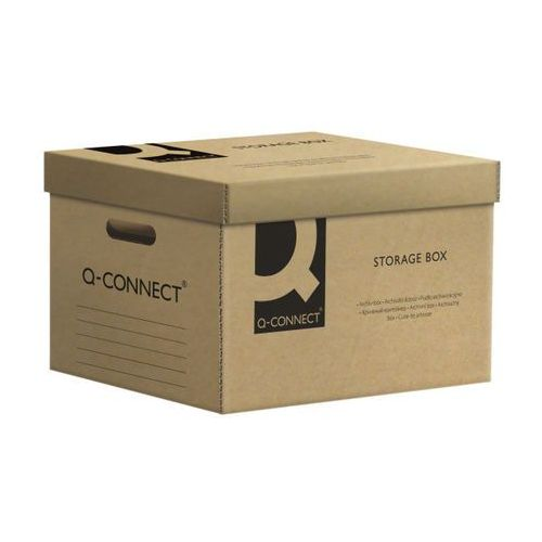 Pudło archiwizacyjne Q-CONNECT, karton, zbiorcze, szare
