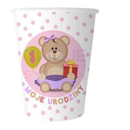Kubeczki papierowe różowe - Moje 1 urodziny (5901238697022)