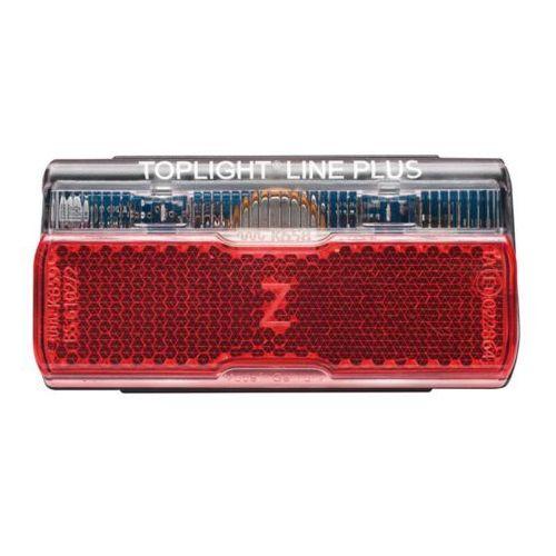 Busch + müller toplight line plus dynamo rowerowe dla 50 mm rozstaw otworów czerwony/czarny lampy na dynamo