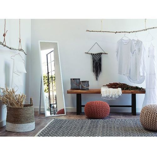 Lustro stojące białe 40 x 140 cm torcy marki Beliani - OKAZJE