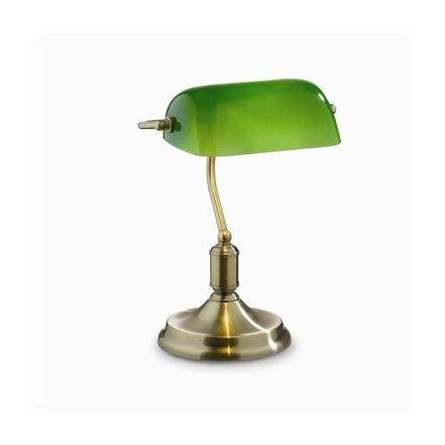 Lampa biurkowa lawyer tl1 antyczny mosiądz, 45030 marki Ideal-lux