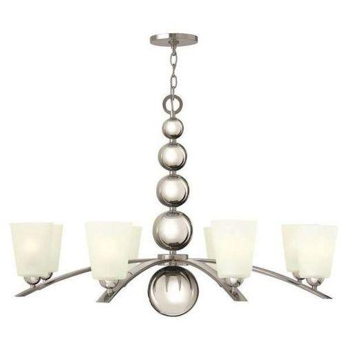 Żyrandol lampa wisząca hk/zelda8 pn elstead szklana oprawa w stylu retro kule nikiel biała marki Hinkley