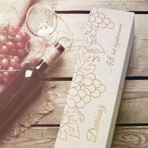 Murrano Ekskluzywna skrzynka na wino z grawerem prezent dr33
