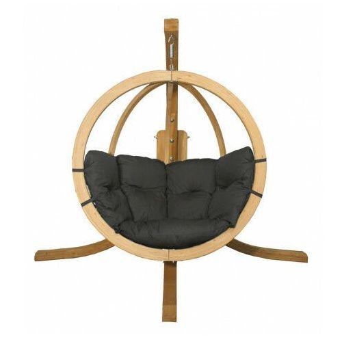 Grafitowy fotel wiszący ogrodowy - parys 2x marki Producent: elior