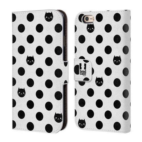 Etui portfel na telefon - Cats and Dots Black