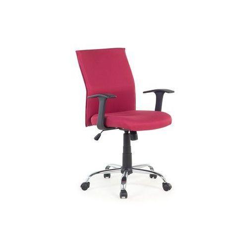 Beliani Krzesło biurowe - czerwone - obrotowe - tapicerowane - do komputera - elite (7081451125132)