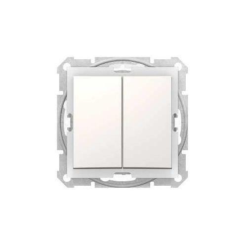 Łącznik świecznikowy Schneider Sedna SDN0300423 IP44 hermetyczny z podświetleniem kremowy
