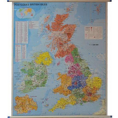 Wielka Brytania, mapa ścienna kody pocztowe 1:1 200 000 Stiefel