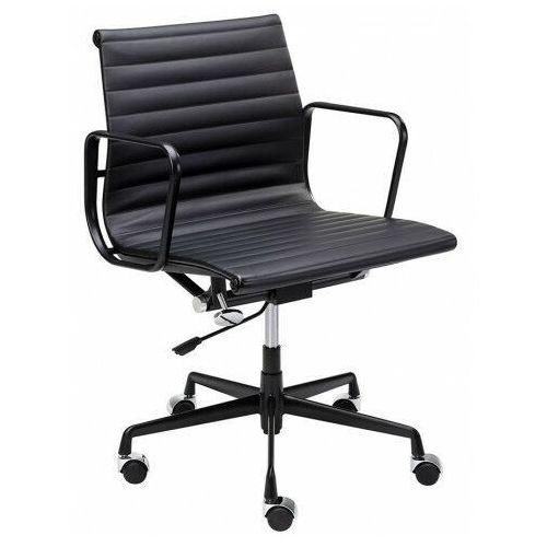 Biurowy fotel obrotowy z naturalnej skóry - vordo 2x marki Elior