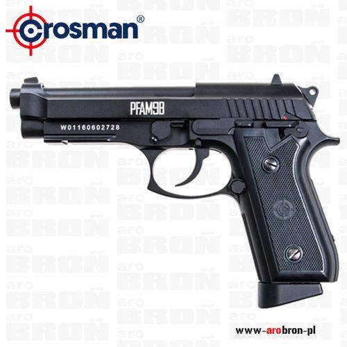 Pistolet wiatrówka  pfam9b 4,5mm - full auto, blow back, śrut bb, co2, szyna ris marki Crosman