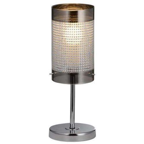 Stojąca LAMPA stołowa MONTE LP-1305/1T Light Prestige metalowa LAMPKA biurkowa nowoczesna chrom przezroczysta